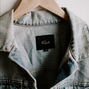Rails distressed denim jacket
